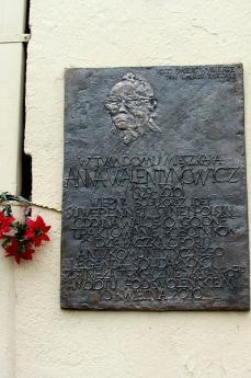 Targa sulla casa di Anna Walentynowicz