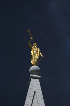 La statua della chiesa di Salt Lake City (Foto di fabcom)