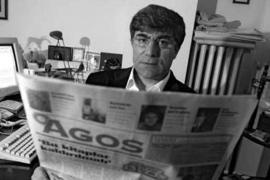 Hrant Dink in the editorial office of weekly magazine Agos, founded by him