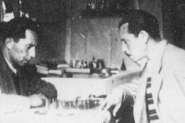 Partita di scacchi tra internati nel campo di concentramento di Ferramonti di Tarsia