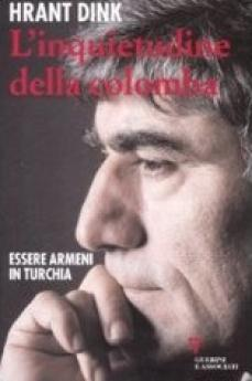 La copertina del libro con il profilo di Hrant Dink