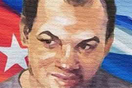 Murales che raffigura Orlando Zapata (fonte Wikicommons)