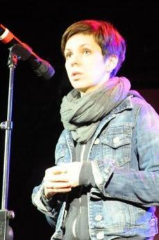 L'attrice Natalia Kolyada del Belarus Free Theatre in tournée a New York (da Wikicommons)
