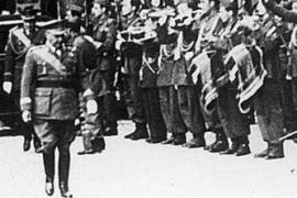 Francisco Franco in visita alla città di Reus (fonte Wikicommons, utente Pere Joan Barceló)