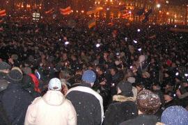 Proteste a Minsk (fonte Wikicommons, utente Unomano)