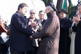 Il Presidente Marra all'inaugurazione del Giardino dei Giusti del Monte Stella