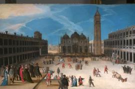 La corrida a Venezia, raro dipinto in mostra a Praga (foto inviataci dalla curatrice della mostra)