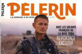 The heading of French newspaper 'Pélerin'