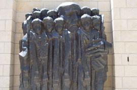 Il memoriale dedicato a Korczak all'interno del Memoriale di Yad Vashem (foto di EdOm)