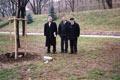 """Pietro Kuciukian e i due relatori armeni Manukyan e Virabyan al """"Giardino dei Giusti di tutto il Mondo"""""""