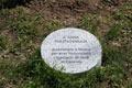 Il cippo sotto l'albero dedicato a Anna Politkovskaya